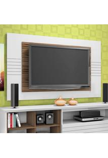 Painel Para Tv Home Friz Branco E Amãªndoa 157 Cm