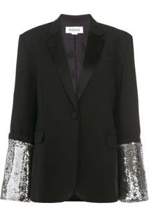 Monse Sequin Embellished Blazer - Preto