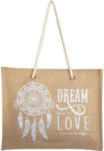 Bolsa Bag Dreams De Praia Barcelona Dreams Love Branca
