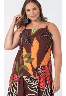 Vestido Almaria Plus Size Munny Curto Estampado Ma