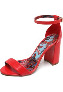 Sandália Fiveblu Estampa Vermelha