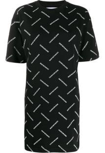 Calvin Klein Jeans Logo Print T-Shirt Dress - Preto