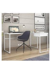 Mesa Escrivaninha Industrial Em L Erica Novabras 1 Gaveta