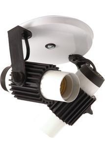 Spot Aleta Soquete E-27 Para 02 Lâmpadas - Startec - Branco