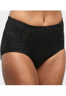 Calcinha Hot Pants Hope Rendada - Feminino-Preto