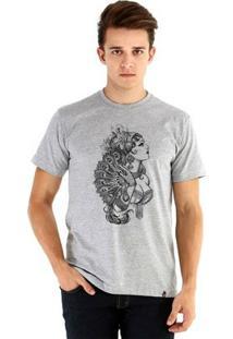 Camiseta Ouroboros Manga Curta India - Masculino-Cinza