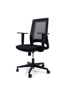 Cadeira Office Gerente Byartdesign Confort Preto Com Assento Preto