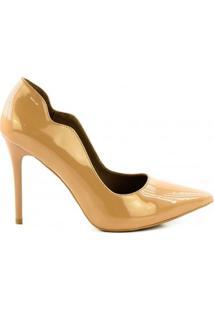 Sapato Scarpin Lidia Couto - Feminino-Nude