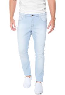 Calça Jeans Denuncia Skinny Delavê Azul