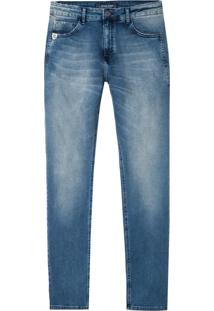 Calça John John Slim Guamblin Jeans Azul Masculina (Jeans Claro, 38)