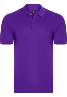 Camiseta Masculina Pólo Piquet Pima - Roxo