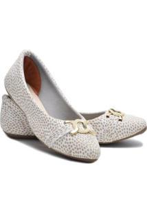 Sapatilha Ded Calçados Bico Fino Feminina - Feminino-Branco