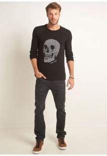 Calça John John Slim Washington 3D Jeans Preto Masculina Cc Slim Washington-Jeans Black Medio-40