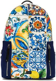 ... Dolce   Gabbana Mochila Estampada Com Bolsos - Estampado d2221bd47c5