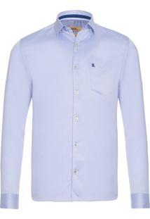 Camisa Masculina Maquinetado - Azul Claro