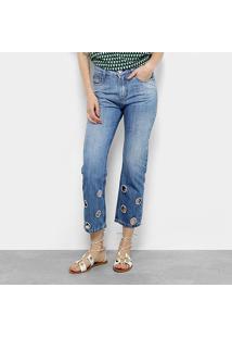 9ea352aff ... Calça Jeans Cigarrete Maria Filó Cintura Alta Feminina - Feminino-Azul