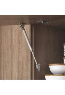 Cozinha Compacta 7 Portas Paneleiro Forno E Armário Aéreo Com Nicho Acácia Itatiaia Castanho