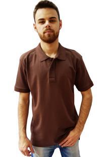 Camisa Polo Manga Curta Villa Rock Marrom