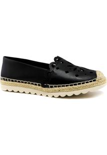 Alpargata Zariff Shoes Corda Solado Tratorado Preto