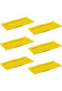 Saladeira Vemplast Moove Rasa Amarelo