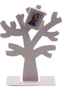 Porta Retrato Minas De Presentes Árvore De Metal 2 Fotos 4X6Cm Branco