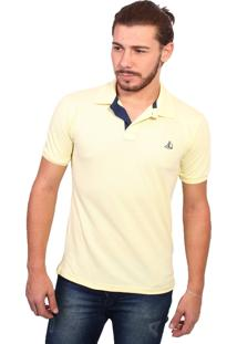 Camisa Polo Clube Náutico Slim Amarelo Bb