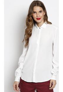 Camisa Lisa Com Tag- Branca- Forumforum