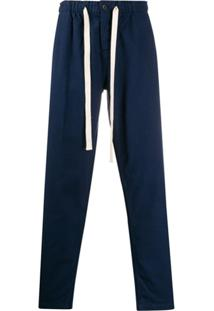 Portuguese Flannel Drawstring Waist Trousers - Azul