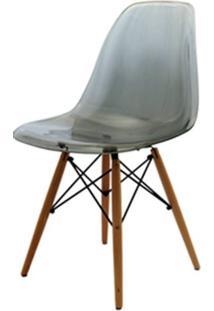 Cadeira Eames Policarbonato Fume Base Madeira 18412 Sun House