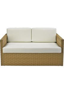 Sofa Corona 2 Lugares Estrutura Aluminio Revestido Em Fibra Cor Bege Madrid - 44655 Sun House
