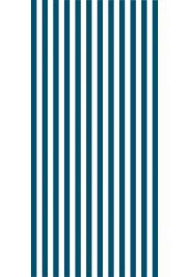 Adesivo Papel De Parede Listrado - Azul