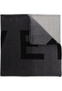 Givenchy Cachecol De Tricô Com Logo - Preto