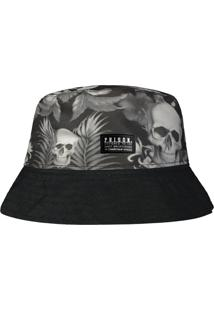 Chapéu Prison Bucket Hat Caveira Floral