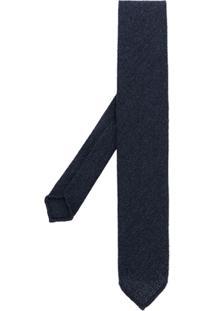 Lardini Gravata Com Trama De Fios - Azul