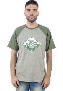 Camiseta Multcaps Mxc 011 Cinza/Verde
