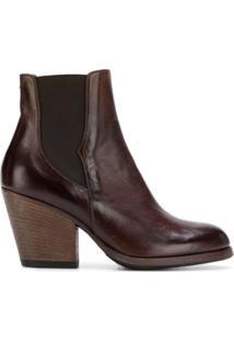 Pantanetti Ankle Boot 'Chelsea' De Couro - Marrom