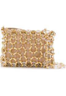 By Far Capria Chainlink-Overlay Shoulder Bag - Neutro