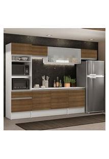 Cozinha Completa Madesa Topazio 300001 Com Armário, Balcão E Tampo Branco/Rustic Rustic