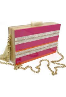 Bolsa Clutch Listras Colors - Kanui