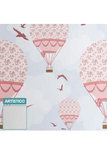Premium - Papel De Parede Balões Ilustra