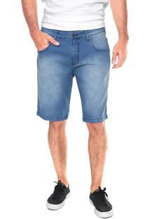 Bermuda Jeans Forum Slim Azul