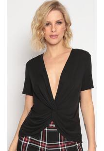 Blusa Com Transpasse & Torã§Ã£O- Preta- Seduã§Ã£O Dressseduã§Ã£O Dress