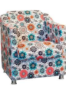Poltrona Decorativa Tilla Suede Liso Floral - Nay Estofados