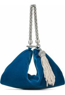 Jimmy Choo Bolsa Callie Com Detalhe De Tassel - Azul