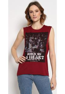 """Blusa """"Pinch Of A Heart""""- Vinho- Sommersommer"""
