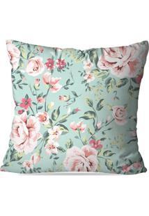 Capa De Almofada Avulsa Decorativa Floral Rose 45X45Cm - Kanui