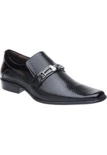 Sapato Social Malbork Em Couro Verniz - Masculino-Preto