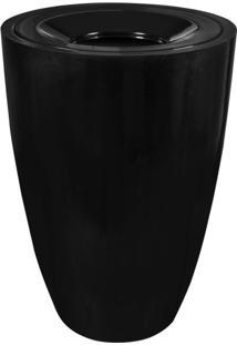 Lixeira Em Fibra De Vidro 100L Lfv1F Astra Preto