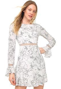 Vestido Lez A Lez Curto Alpine Branco/Preto