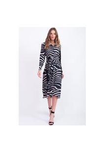 Vestido Bana Bana Estampado Zebra